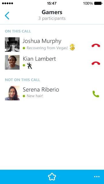 Skype for iOS met groepsgesprek-optie