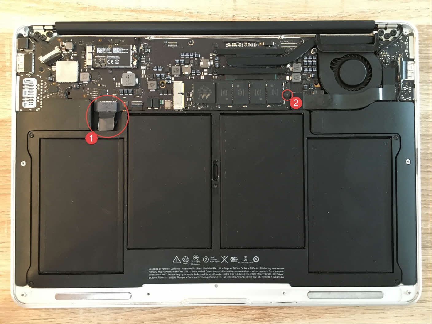 MacBook Air open