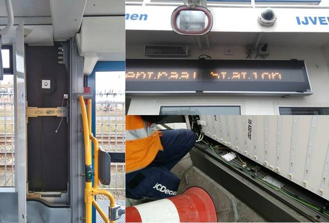 beacon in tram, pont en bus/tramhokje