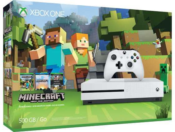 Microsoft Xbox One S 500GB Minecrafs Favorites Bundel Wit