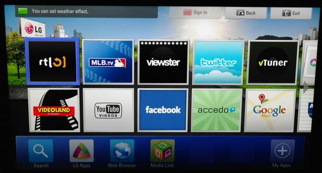 LG LW650S Smart TV
