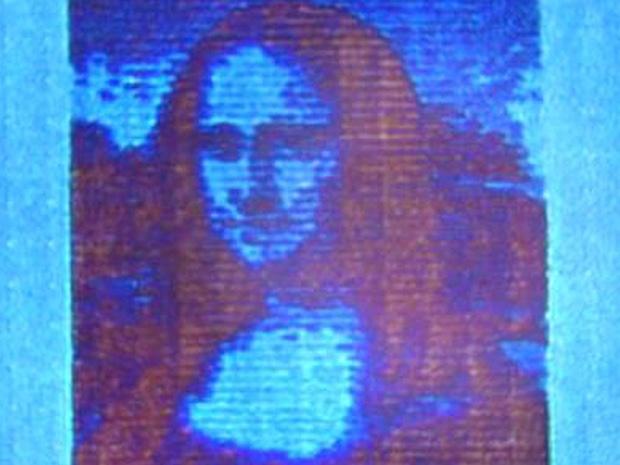 Mona Lisa geprint op hoge dpi