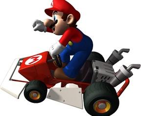 Mario Kart DS - Mario op de kart