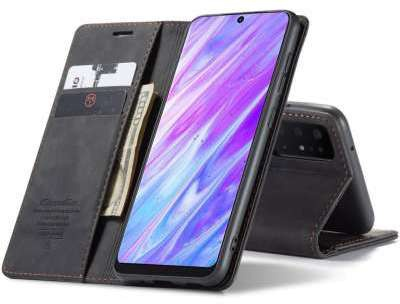 Caseme Samsung Galaxy S20 Retro Wallet Case - Zwart