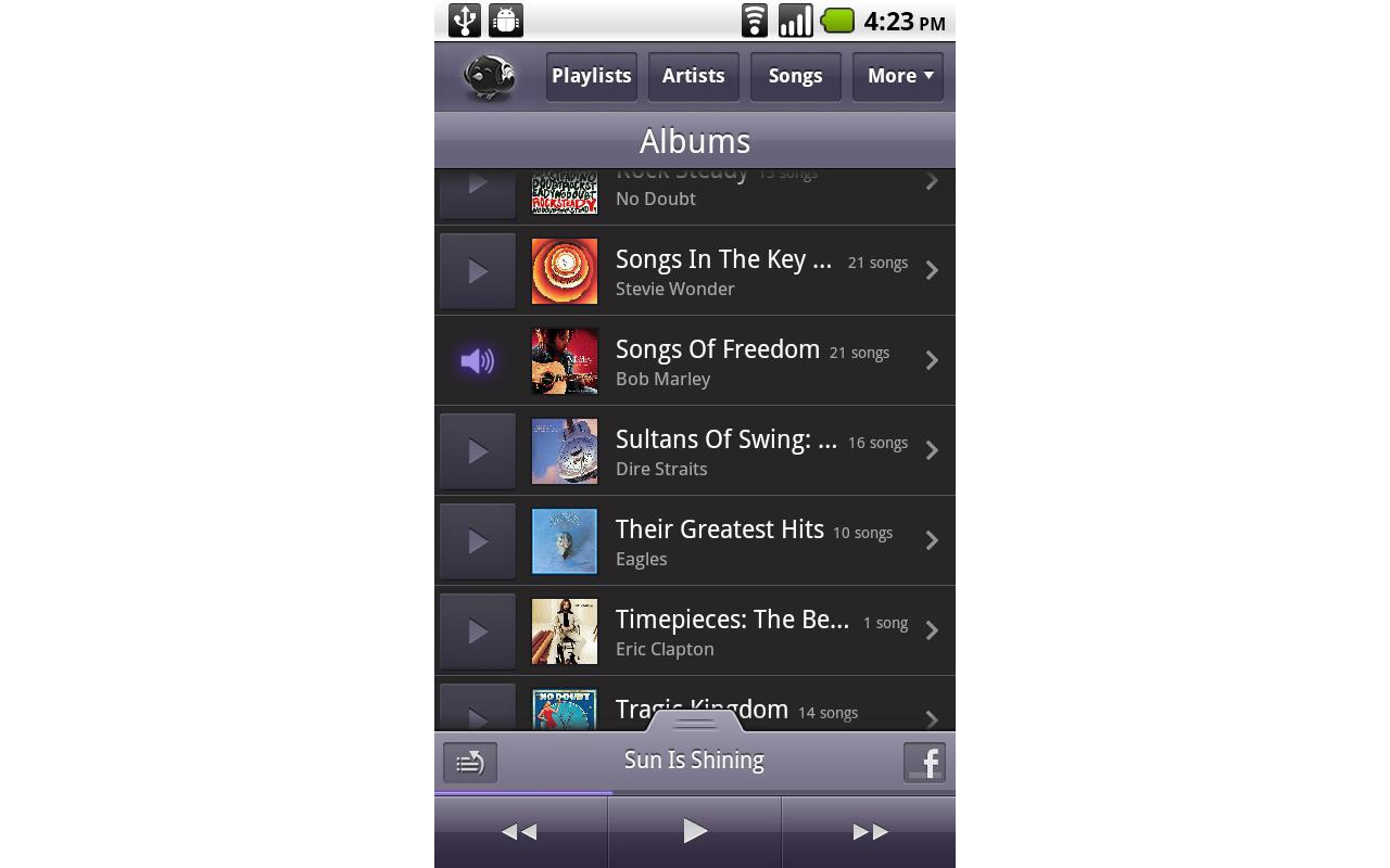 Songbird for Android screenshot