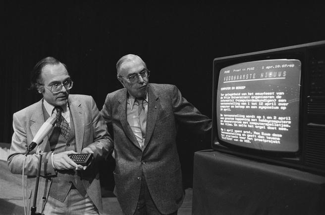 Start teletekst in Nederland 1 april 1980