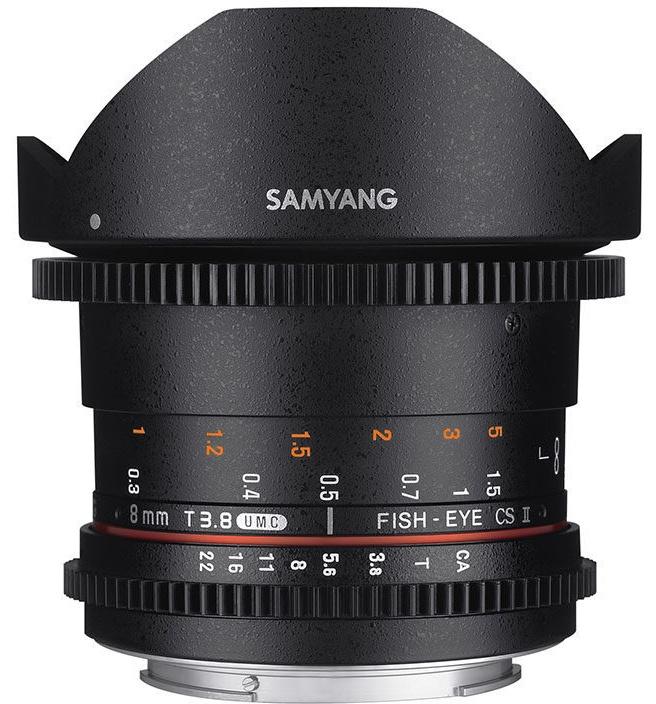 Samyang Optics 8mm T3.8 VDSLR UMC Fish-eye CS II (Pentax K)