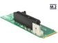 Goedkoopste Delock Adapter M.2 NGFF Key M male > PCI Express x4 Slot