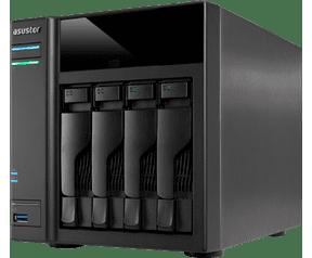 Asustor AS-5004T [NAS, 4-Bay, Intel Celeron DUAL-Core, 1GB DDR3L, USB 3.0]