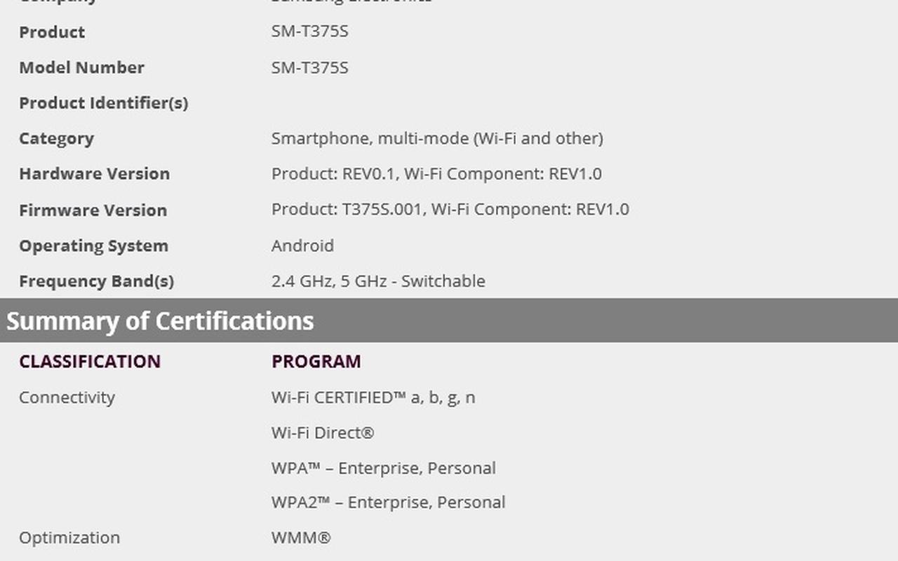"8""-tablet van Samsung"