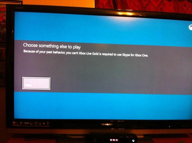 Xbox One Lve Gold Skype schorsing