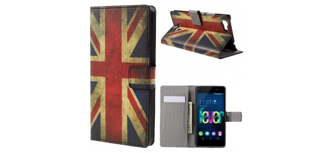 qMust Wiko Fever 4G Wallet Case - hoesje met stand - UK