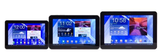 Samsung Galaxy Tab lineup