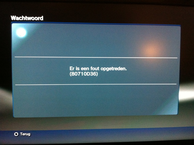 Errormelding PS3 3.61