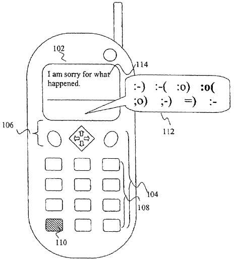 Emoticon patent Samsung RIM Varia Holdings