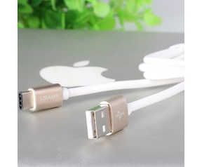 Usams Usams U-Right Standaard USB naar USB-C Kabel (100cm) - Roségoud