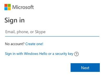Microsoft Account inlog