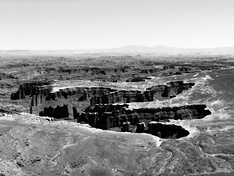 Canyonlands panorama a'la Ansel Adams