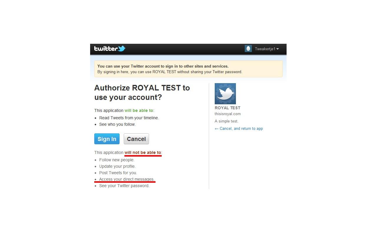 Twitterberichten kunnen worden bekeken door read-only-apps