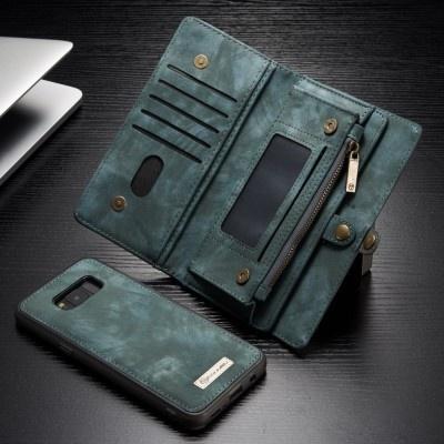 Caseme Samsung Galaxy S8 Luxe Lederen Portemonnee Hoesje - uitneembaar met backcover (blauw)