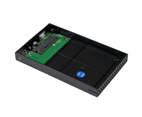 """Startech .com S2510BMU33. Maximumcapaciteit: 1 TB, Ondersteunde HDD aansluitingen: SATA, Harde schijf, omvang: 63.5 mm (2.5 ). Soort serieële aansluiting: SATA. Gewicht: 97.7 g, Breedte: 77 mm, Diepte: 120 mm. Gewicht pakket: 500 g"""" 1TB Aluminium"""