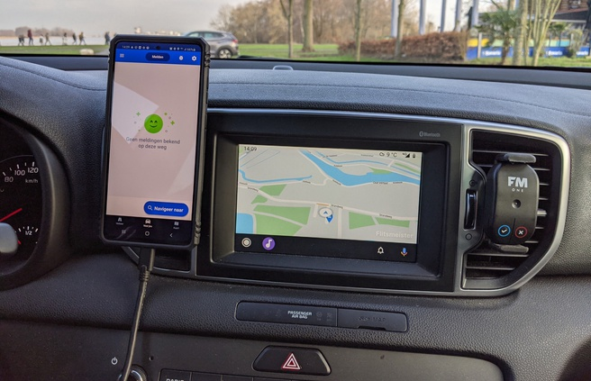 Flitsmeister voor Android Auto