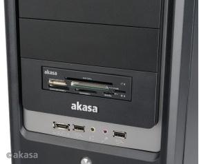 "Akasa AKASA 3.5"" Akasa internal electronic ID. SMART and multimemory card reader . 7 ports"
