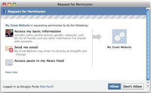 Facebook Applications Tokens