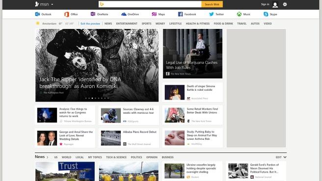 Previewversie MSN