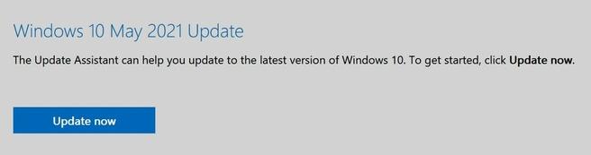 Microsoft Windows 21H1 update