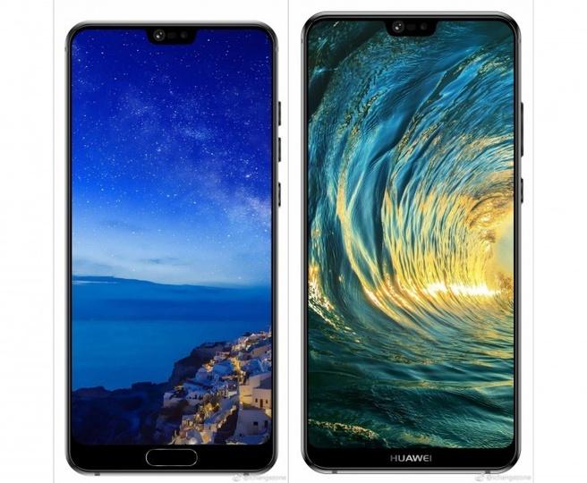 Huawei P20 uitgelekte renders