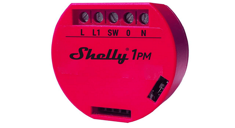 Shelly 1 met Power Metering