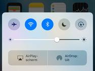 iOS 10 bedieningspaneel