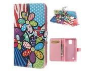 Goedkoopste Kees Samsung Galaxy Note 4 Portemonnee Hoesje Colorful Hippie