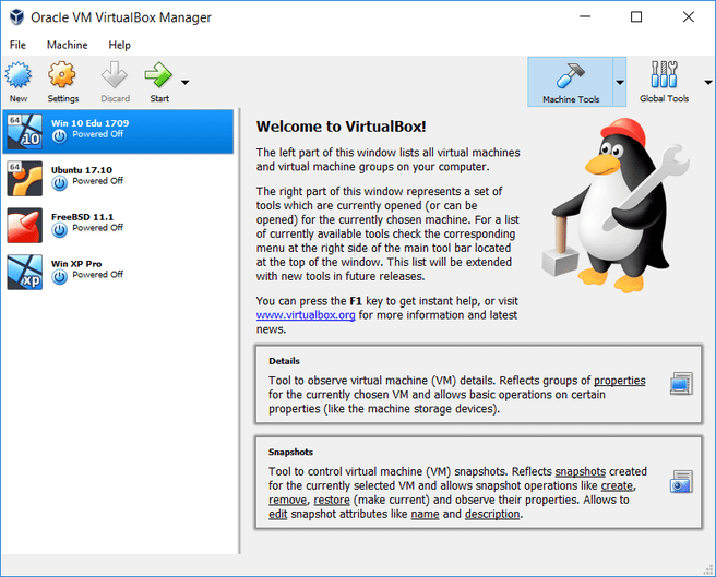Oracle VirtualBox 5.2