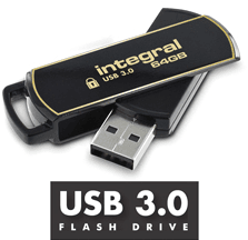 Integral Secure 360 Encrypted 32GB Zwart