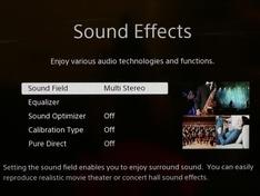 Sound Effects Menu