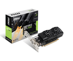 MSI GTX 1050 en 1050 Ti low-profile