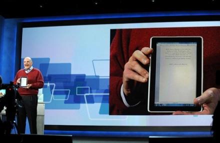 Ballmer toont HP Slate op CES 2010