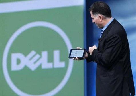 Michael Dell met tablet