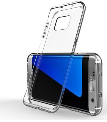Samsung Galaxy S7 Edge Glanzend TPU Hoesje Transparant Transparant