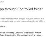 Windows 10 Controlled Folders