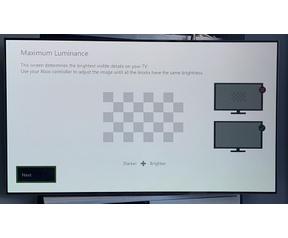Xbox hdr kalibratie