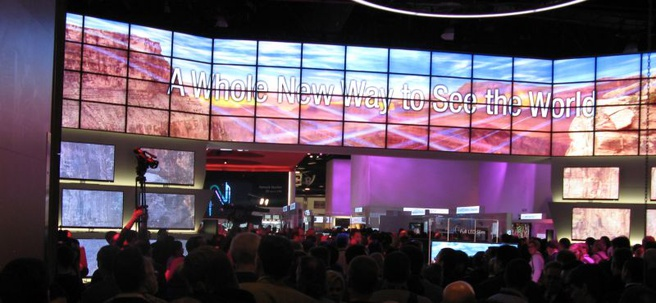 LG-booth op CES