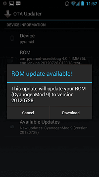Android OTA Update Center