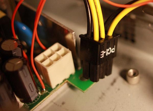 PCIe-connector als adapter-aansluiting.