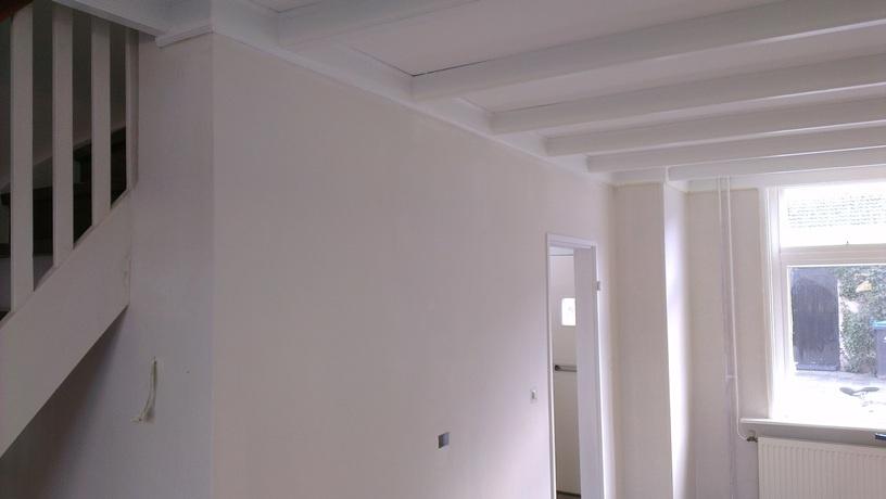 Muur grijs verven beste inspiratie voor huis ontwerp - Hoe kleed je een witte muur ...