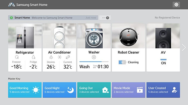 Samsung Smart Home op tablet