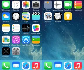 Screenshots iOS 8