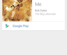 Muziekherkenning in Google Now, Android